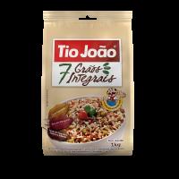 Tio João 7 Grãos Integrais com Quinoa 1kg - fardo com 10 unidades de 1kg