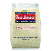 Tio João Variedades Mundiais Institucional  Arroz Jasmine 1kg - fardo com 10 unidades de 1kg