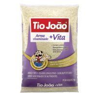 Arroz Tio João +Vita 1kg - fardo com 30 unidades de 1kg