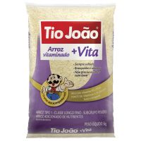 Arroz Tio João +Vita 5kg - fardo com 6 unidades de 5kg