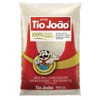 Arroz Tio João 100% Grãos Nobres 1kg - fardo com 30 unidades de 1kg