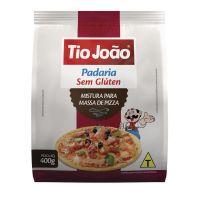 Mistura para de Massa de Pizza Tio João Sem Glúten 400g - caixa com 12 unidades de 400g