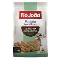 Mistura para Pão Multigrãos Tio João Sem Glúten 310g - caixa com 12 unidades de 310g