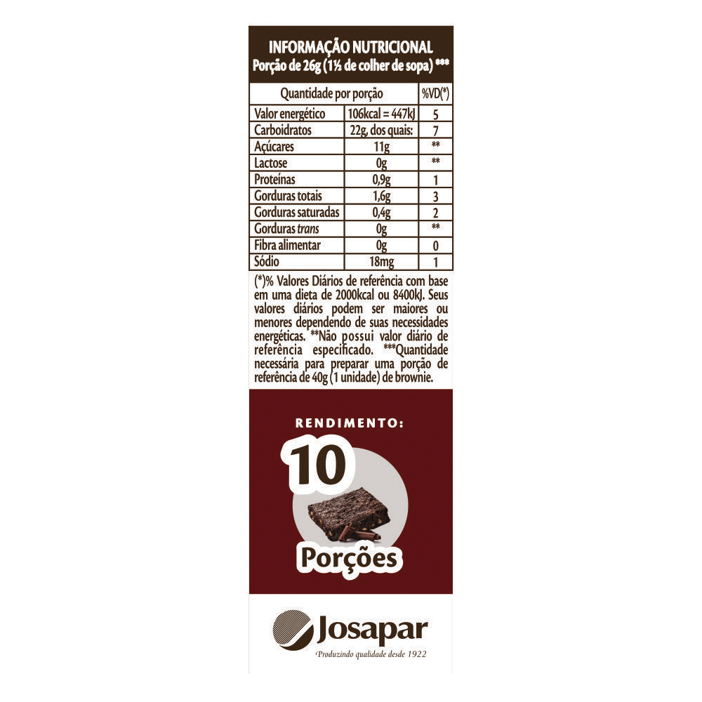 Tio Jo�o Mistura para Brownie 270g - caixa com 12 unidades de 270g