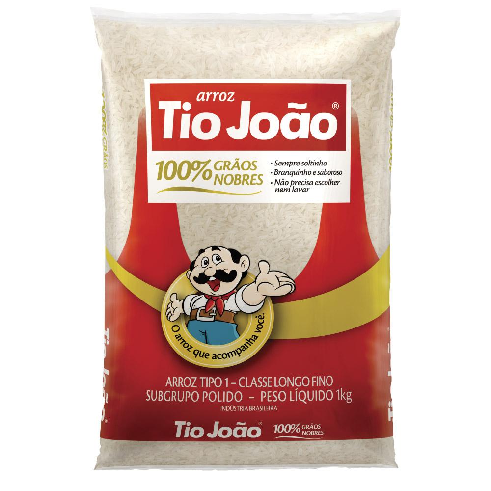 Arroz Tio Jo�o 100% Gr�os Nobres 1kg - fardo com 30 unidades de 1kg