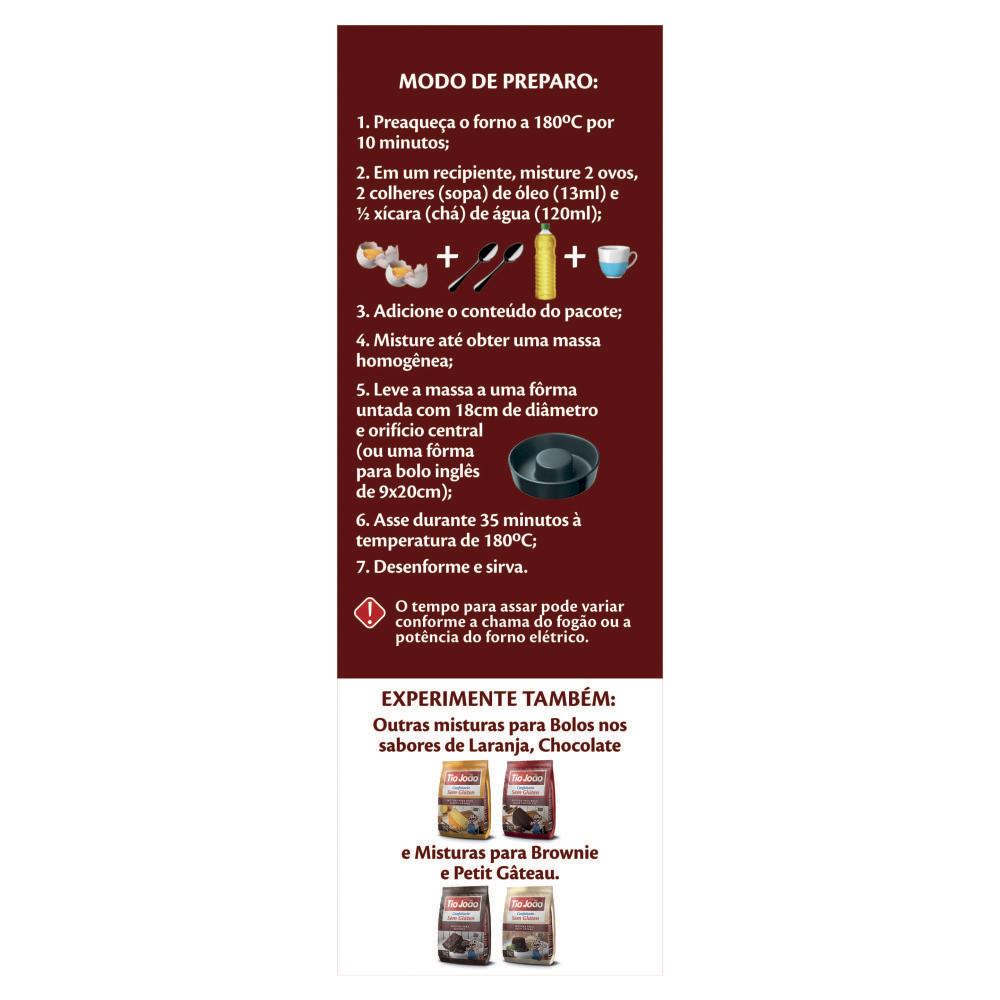 Tio Jo�o Mistura para Bolo Sabor Baunilha - caixa com 12 unidades de 270g